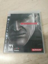 Metal Gear Solid 4 Guns Of The Patriots PlayStation 3 PS3 Konami