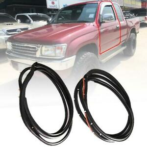 Door Rubber Seal Weatherstrip Front For Toyota Hilux LN147 2 Doors only 1998-04