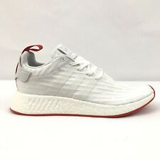 Adidas NMD R2 Primeknit PK White Core Red BA7253 Mens Two Toned Size 10
