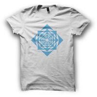 Sacred Geometry Mens Geometric Tshirt Festival Clothing Mandala Square Spiral