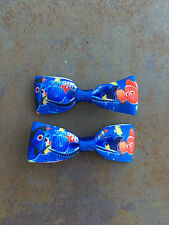 Mini Finding Dory Bows with Alligator Clips