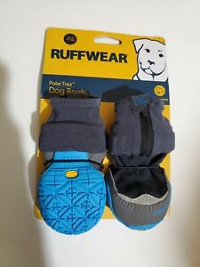 "Ruffwear Polar Trex Winter Dog Boots 2.0"" 51mm Obsidian Black Gray 2 Boots New"