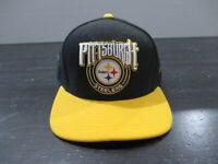 New Era Pittsburgh Steelers Hat Cap Black Snap Back Adjustable NFL Football Mens