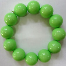 Elasticated Green Beads Bracelet Wristband Bangle Womens Ladies Girls Jewellery