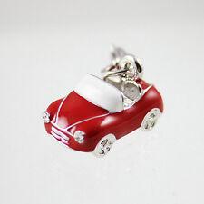 Red Car Bracelet Charm Clip on Mini Copper Bracelet Keyring Charm