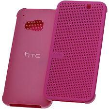 Original HTC Dot View Book Case Etui Tasche Hülle HC M231 Pink Candy für One M9