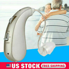 Rechargeable Digital Hearing Aid Severe Loss Invisible BTE Ear Aids High-Power