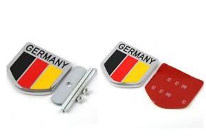 1PCS Germany DE Flag Chrome Metal Front Grille Grill Emblem Badge For BMW Mini