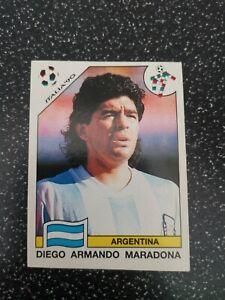 """PANINI FIFA WORLD CUP """"ITALIA 90"""" DIEGO MARADONA #128 Original RARE"""