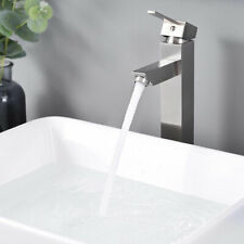 Bathroom Faucet Tall Cold & Hot Water for Countertop Vessel Sink Nickel