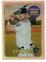 2018 Topps heritage baseball chrome refractor parallel THC-613 Christian Arroyo