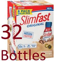 ( 32 Bottles ) SlimFast Weight Loss Cappuccino Meal Replacement Shakes, 11 oz