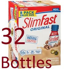 32 Bottles - 11 fl oz SlimFast Cappuccino Delight Meal Replacement Shakes Drink