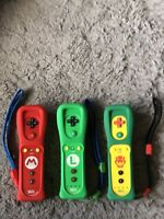Lot Of 3NINTENDO WII REMOTE MOTION PLUS MARIO AND LUIGI AND KOOPA CONTROLLERS