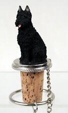 Bouvier des Flandres Dog Hand Painted Resin Figurine Wine Bottle Stopper