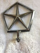 MOPAR  DODGE PENTASTAR HOOD ORNAMENT EMBLEM USED 1980'S