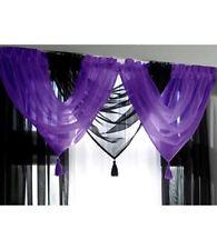 Rideaux et cantonnières violette en polyester pour la salle à manger