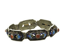 altes filigranes Armband - Silber - Emaille und Karneol - China