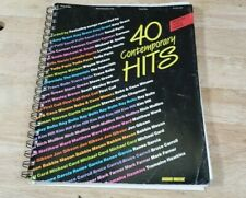 40 Contemporary Hits Medium Voice Range Vocal Solo Word Music Song Book 1989