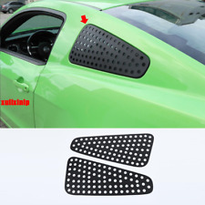 For 2010-2014 Ford Mustang Black Aluminum Rear side window grid Cover Trim 2pcs