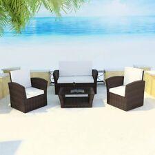 Vidaxl poltrone giardino 10x poli rattan Marrone poltroncine sedie per esterni