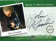 CSI SERIES 1 AUTOGRAPH AUTO JOHN GOODWIN #A15 SPECIAL FX MAKE-UP DESIGNER *42174