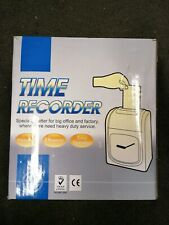 More details for time recorder clocking in clock machine dt3000