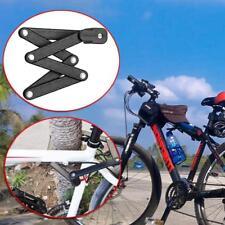 Bike Bicycle Motorcycle Pro Security Folding Lock Anti-Theft Combination + Rack