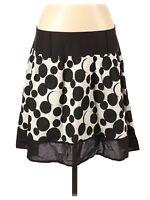 Star City Juniors Skirt Size 13 Black White Metallic Polka Dots