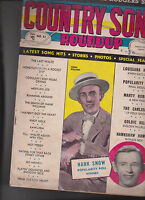 Country Song Roundup #25 Jimmie Rodgers Hank Snow August 1953