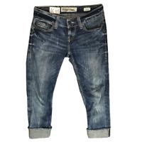 Women BKE Low Rise Distressed Capri Jeans Blue Stella Size 20R