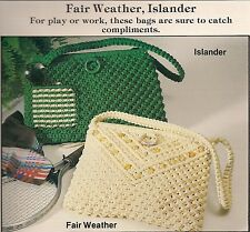 Vintage Islander & Fair Weather Handbag Patterns - Plaid's Purses 'a la Macrame