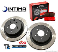 Evo 5-9 DBA T2 Slotted Rotors and Intima SS Brake Pads Front Package