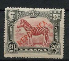 Nyassa Company 1911 SG#56, 20R Common Zebra Optd MH P14 #A68129