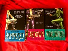 Elizabeth Bear Jenny Casey Trilogy (Hammered, Scardown, Worldwired) Autographed!