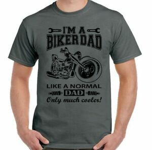 Biker Dad T-Shirt Mens Funny Motorbike Motorcycle Father's Day Bike Xmas I'm A