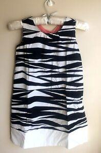 NWT Gymboree Size 8 Sleeves Less Black & White Animal Print Jumper dress