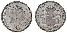 5 SILVER PESETAS / 5 PESETAS PLATA. DURO. MADRID 1893* PGV. ALFONSO XIII. XF/EBC