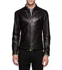 Zegna Sport Leather Biker Jacket Size Large Slim Fit $2500