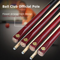 Wood Flame Timber Wooden Pool Cue Snooker Billiards Stick Full Length 145CM/57''