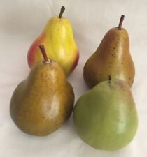 Artificial fruit lot 4 pears green yellow home decor staging accessories  4 x 2