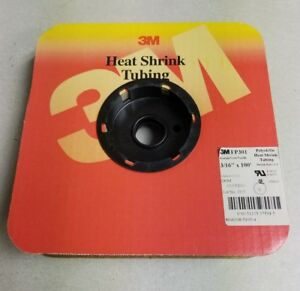"3M Heat shrink tubing FP301 3/16""x100' green"