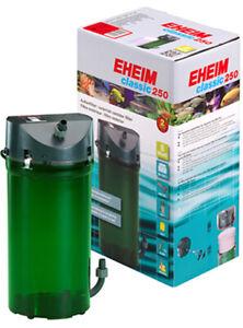 EHEIM CLASSIC 250 PLUS EXTERNAL POWER FILTER 2213 + MEDIA FISH TANK AQUARIUM