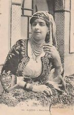 """Carte Postale ancienne Algérie titrée """" Belle Fatma """""""
