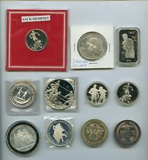 .999 Sterling Silver Boxing Coins-Ali Dempsey Johnson Gans Nelson & More (11pcs)