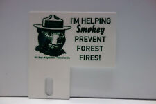 "SMOKEY BEAR PLATE TOPPER PREVENT FOREST FIRES  3"" High by  3"" Wide"