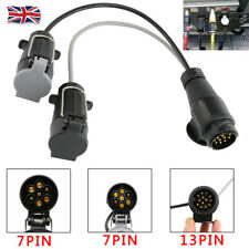 13Pin to 7Pin Towing Socket Plug Board Adaptor Trailer Extension Lead Caravan