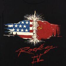 Vintage 1985 Rocky IV 4 Sleeveless T-shirt Thin Boxing Russia America USA USSR
