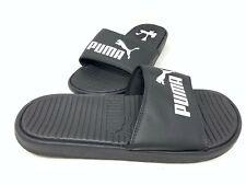 NEW! Puma Men's Slip On Comfort Cushioned Slide Sandals Black/White 156Q sz