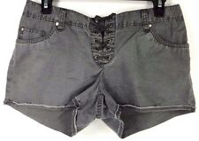 HANG TEN WOMEN SHORTS 100% COTTON COLOR GRAY  SIZE 7 NEW WITH TAGS